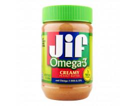 Jif Omega-3 Crunchy Peanut Butter - Case