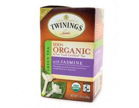 Twinings Organic Green Tea with Jasmine Tea 20's - Case