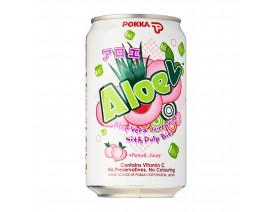 Pokka Can Drink Aloe V Peach Juice Drink - Case