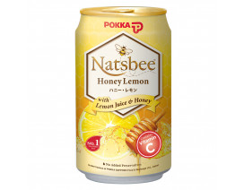 Pokka Can Drink Natsbee Honey Lemon Juice (Order 12 Cases Get 1 Free) Case
