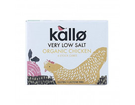 Kallo Organic Low Salt Chicken Stock Cubes - Case