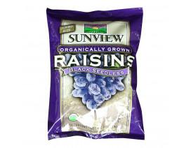 Sunview Organic Raisins Black Sharepack - Case