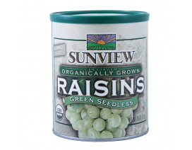 Sunview Organic Raisins Green Can - Case