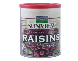 Sunview Organic Raisins Red Can - Case