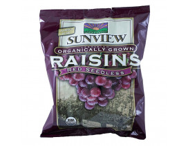 Sunview Organic Raisins Red Sharepack - Case