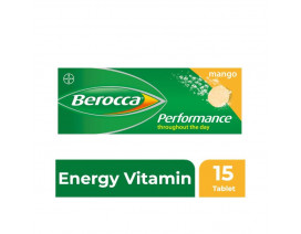 Berocca Mango Energy Vitamin Effervescent 15 Tablets - Case