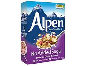 Alpen No Added Sugar Blueberry - Case