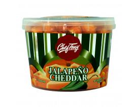 Chef Tony's Gourmet Popcorn Jalapeno Cheddar Small Tub - Case