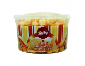 Chef Tony's Gourmet Popcorn White Chocolate Parmesan Regular Tub - Case