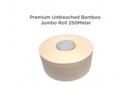 Cloversoft Unbleached Bamboo Jumbo Roll 2 Ply 4 x 3 x 250m - Case