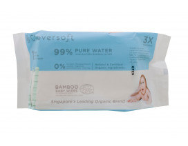 Cloversoft Unbleached Bamboo Pure Water Travel Baby Wipes 40s - Case