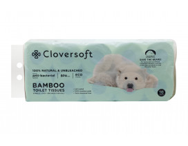 Cloversoft Unbleached Bamboo 3ply Toilet Roll (32 cartons per pallet)