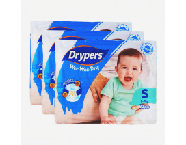 Drypers Wee Wee Dry Diapers S Value Pack - Case