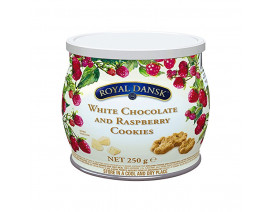 Royal Dansk White Chocolate & Raspberry Cookies - Case