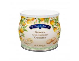 Royal Dansk Ginger & Lemon Cookies - Case