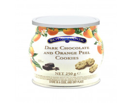 Royal Dansk Dark Chocolate & Orange Peel Cookies - Case