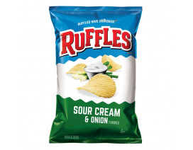 Ruffles Sour Cream and Onion Potato Chips - Case