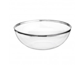 Sabert 14cm Clear Round Bowl Silver - Case