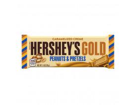 Hershey's Gold Pretzel & Peanut Bar - Case
