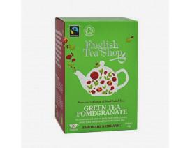 English Tea Shop Green Tea Pomegranate Fairtrade Organic 20 Sachet - Case