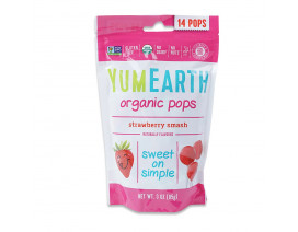 YumEarth Organic Strawberry Lollipops - Case