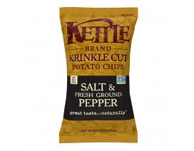 Kettle Chips Krinkle Cut Salt & Fresh Ground Pepper - Case