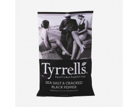 Tyrrell's Sea Salt And Cracked Black Pepper Crisps - Case