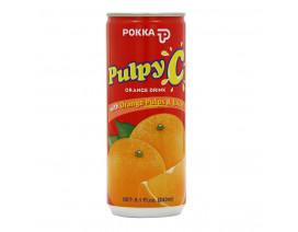 Pokka Can Drink Pulpy C Orange Juice - Case