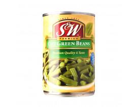 S&W Cut Green Beans - Case