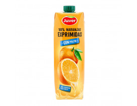 Juver 100% Fresh-Squeezed Orange Juice with Pulp - Case