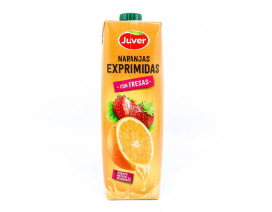 Juver 100% Fresh-Squeezed Orange Juice with Strawberry - Case