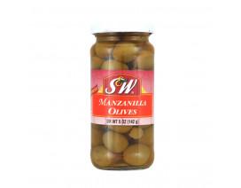 S&W Plain Manzanilla Olives - Case