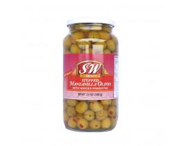 S&W Stuffed Manzanilla Olives - Case