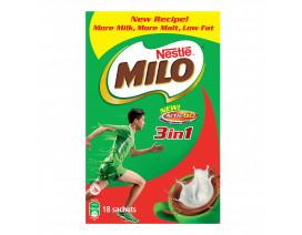 MILO Activ-Go 3 in 1 Instant Chocolate Malt Drink Sachet - Case