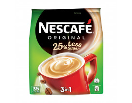 NESCAFE 3 in 1 Instant Coffee Original 25% Less Sugar - Case