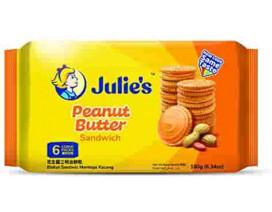 Julie's Peanut Butter Sandwich 180g - Case