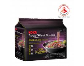 Koka Purple NO MSG Chilli & Lime Flavour Instant Noodles - Case