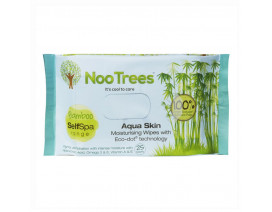 Nootrees Self Spa Aqua Skin Moiturising Wipes with Eco-dot© Technology 25s - Case