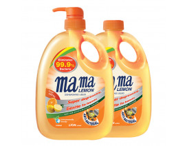Mama Lemon Dish Washing Liquid Anti Bacterial Citrus with Refill - Case