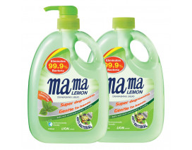Mama Lemon Dish Washing Liquid Anti Bacterial Green Tea with Refill - Case