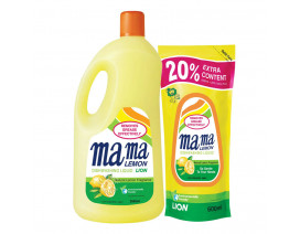 Mama Lemon Dish Washing Liquid Regular with Refill - Case