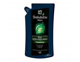 Shokubutsu Men 2-in-1 Hair & Body Wash PowerUp Refill - Case