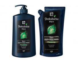 Shokubutsu Men 2 In 1 Hair & Body Wash Powerup - Case