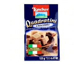 Loacker Chocolate Quadratini Crispy Wafers  - Case