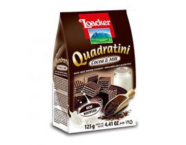 Loacker Cocoa & Milk Quadratini Crispy Wafers  - Case