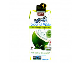 UFC Refresh Coconut Water Packet Drink Matcha Green Tea - Case
