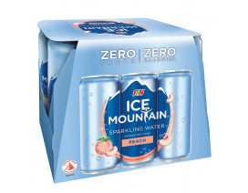 F&N ICE MOUNTAIN SPARKLING WATER PEACH CAN - CASE