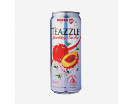 Pokka Teazzle Sparkling Ice Tea Peach - Case