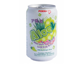 Pokka Can Drink Aloe V White Grape Juice (Order 12 Cases Get 1 Free) Case