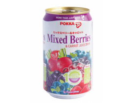 Pokka Can Drink Mixed Berries & Carrot Juice (Order 12 Cases Get 1 Free) Case
